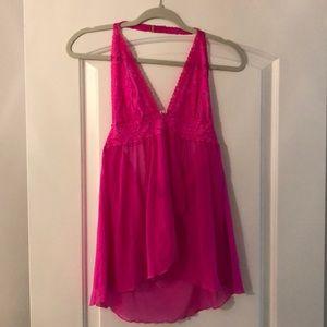 Victoria's Secret lingerie hot pink